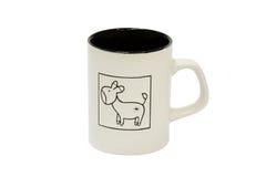 Taza con el burro Imagen de archivo libre de regalías