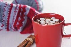 Taza con el chocolate caliente Foto de archivo libre de regalías