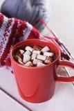 Taza con el chocolate caliente Fotos de archivo