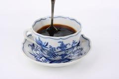 Taza con el coffe negro Fotografía de archivo libre de regalías