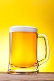Taza con la cerveza Imágenes de archivo libres de regalías