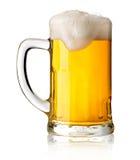 Taza con la cerveza Imagen de archivo libre de regalías