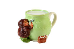 Taza con leche Fotografía de archivo libre de regalías