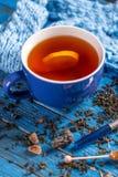 Taza con té negro Foto de archivo libre de regalías
