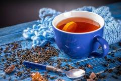 Taza con té negro Fotografía de archivo