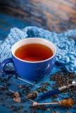 Taza con té negro Fotografía de archivo libre de regalías