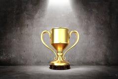 Taza 3d de los ganadores imagenes de archivo