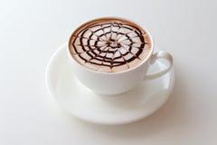 Taza de arte del latte del café Fotos de archivo