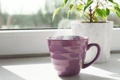 Taza de bebida caliente deliciosa imagenes de archivo