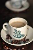 Taza de bebida del café Fotos de archivo