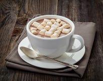Taza de cacao caliente foto de archivo