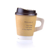 Taza de café aislada Imágenes de archivo libres de regalías