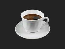 Taza de café aislada en negro Fotografía de archivo