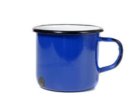 Taza de café azul Foto de archivo libre de regalías