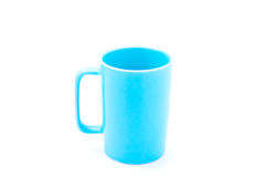 Taza de café azul clara imagen de archivo