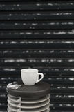 Taza de café blanca Fotografía de archivo