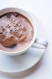Taza de café blanca Visión superior Imágenes de archivo libres de regalías