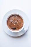 Taza de café blanca Visión superior Fotos de archivo libres de regalías