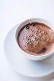 Taza de café blanca Visión superior Imagenes de archivo