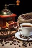Taza de café caliente, aún vida Imagenes de archivo