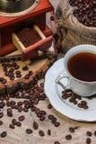 Taza de café caliente, aún vida Fotos de archivo libres de regalías