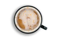 Taza de café caliente con el camino de recortes Imagen de archivo libre de regalías