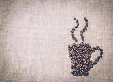 Taza de café caliente El menú de la decoración en el café Imagenes de archivo