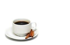 Taza de café con cinamomo Imagen de archivo