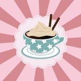 Taza de café con crema Fotografía de archivo libre de regalías