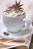 Taza de café con crema azotada Imágenes de archivo libres de regalías