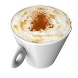 Taza de café con el coffe aislado en blanco Fotografía de archivo