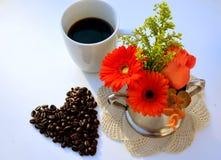 Taza de café con el corazón Imagen de archivo