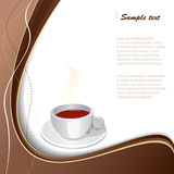Taza de café con el fondo abstracto. Imagen de archivo