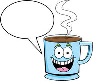 Taza de café con el globo del encabezamiento libre illustration