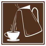 Taza de café con el pote de colada Foto de archivo libre de regalías