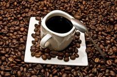 Taza de café con la decoración Fotografía de archivo