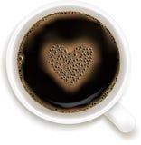 Taza de café con la predicción del amor Foto de archivo libre de regalías