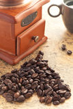 Taza de café con la taza Fotografía de archivo