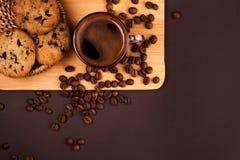 Taza de café con las galletas Foto de archivo