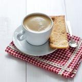 Taza de café con las galletas Fotografía de archivo