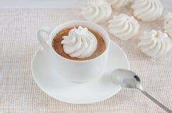 Taza de café con las tortas Foto de archivo