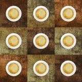 Taza de café con los fondos coloreados Foto de archivo
