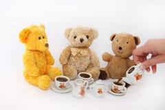 Taza de café con los osos de peluche Imagen de archivo