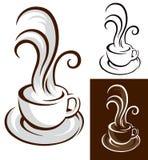 Taza de café con vapor ilustración del vector