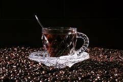 Taza de café cristalina Fotografía de archivo