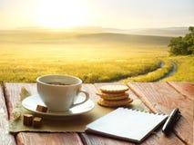 Taza de café de la tarde Fotografía de archivo