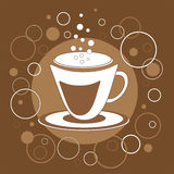 Taza de café decorativa Imagen de archivo