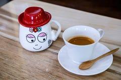 Taza de café del café express Fotos de archivo libres de regalías