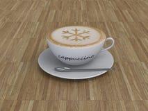 Taza de café del capuchino ilustración del vector