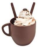 Taza de café del chocolate Foto de archivo